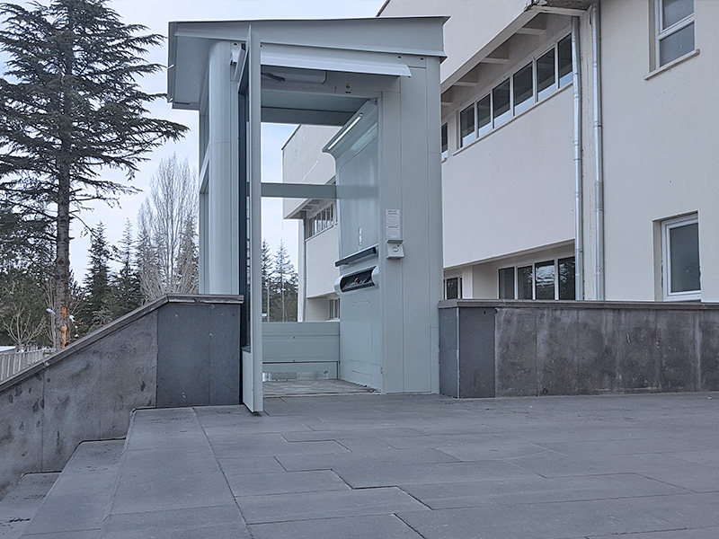 hidrolik engelli asansörü